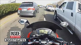 Motorcyclist's Brush With Death Won't Stop His Lane Splitting