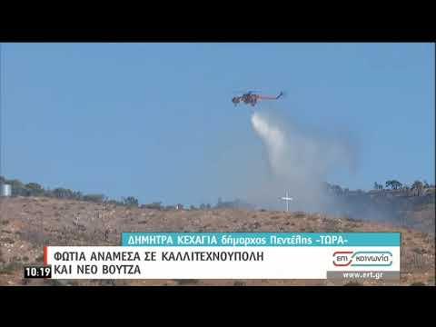 Ν.Βουτζάς | Φωτιά ανάμεσα σε Καλλιτεχνούπολη και Ν.Βουτζά | 10/09/2020 | ΕΡΤ