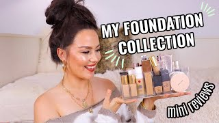 FOUNDATION COLLECTION | MINI REVIEWS + DECLUTTER
