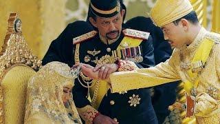 GOLD wedding: Sultan of Brunei's son (Prince Abdul Malik) married with Dayangku Raabi'atul 'Adawiyya