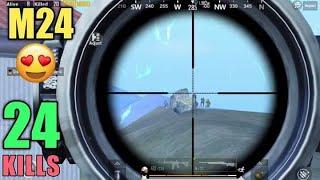 Squad Kill With M24   24 Kills Vs Squad   PUBG Mobile