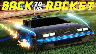 Back to the Future DeLorean in Rocket League! | Review