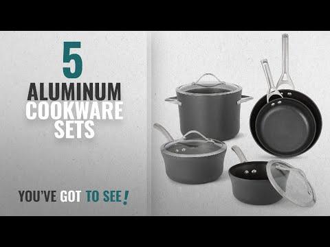 Best Aluminum Cookware Sets [2018]: Calphalon 1876784 Contemporary Hard-Anodized Aluminum Nonstick