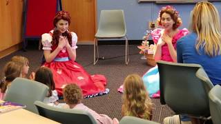 Poppy and Posie visit the New Canaan Library!