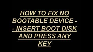TOSHIBA No bootable device - please restart FIX! - Самые лучшие видео