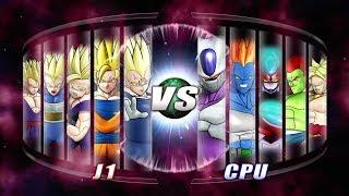 Dragon Ball: Raging Blast 2 Team SSJ2 Vs Movie Villains