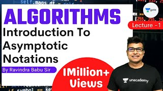 Algorithms Lecture 1 -- Introduction to asymptotic notations