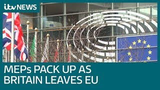 28 Jan - UK MEPs leave Brussels for last time