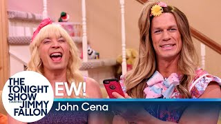 "Jimmy shows a clip from ""Ew!"" in which Sara and her friend Addison (John Cena) practice for dance team auditions to Bruno Mars' ""Finesse.""  Subscribe NOW to The Tonight Show Starring Jimmy Fallon: http://bit.ly/1nwT1aN  Watch The Tonight Show Starring Jimmy Fallon Weeknights 11:35/10:35c Get more Jimmy Fallon:  Follow Jimmy: http://Twitter.com/JimmyFallon Like Jimmy: https://Facebook.com/JimmyFallon  Get more The Tonight Show Starring Jimmy Fallon:  Follow The Tonight Show: http://Twitter.com/FallonTonight Like The Tonight Show: https://Facebook.com/FallonTonight The Tonight Show Tumblr: http://fallontonight.tumblr.com/  Get more NBC:  NBC YouTube: http://bit.ly/1dM1qBH Like NBC: http://Facebook.com/NBC Follow NBC: http://Twitter.com/NBC NBC Tumblr: http://nbctv.tumblr.com/ NBC Google+: https://plus.google.com/+NBC/posts  The Tonight Show Starring Jimmy Fallon features hilarious highlights from the show including: comedy sketches, music parodies, celebrity interviews, ridiculous games, and, of course, Jimmy's Thank You Notes and hashtags! You'll also find behind the scenes videos and other great web exclusives.  ""Ew!"" with John Cena http://www.youtube.com/fallontonight"