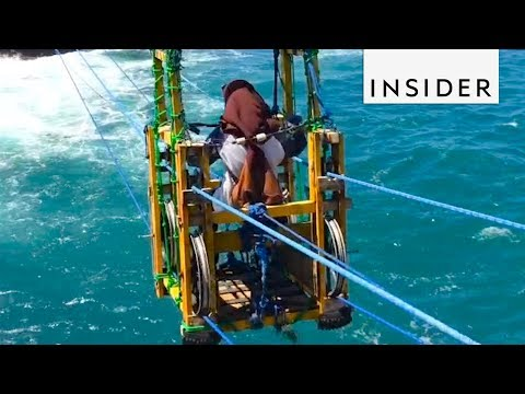 Heart Pumping Gondola Ride to a Remote Indonesian Island