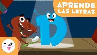 """Aprende la letra """"D"""" con el Dinosaurio David - El abecedario"""