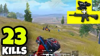 KING OF M416!!! | M416 + 4X SCOPE NO RECOIL | PUBG MOBILE