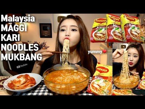 [ENG]Malaysia maggi kari noodles kimchi mukbang 말레이시아 메기 카리 라면 먹방 Korean eating show mgain83