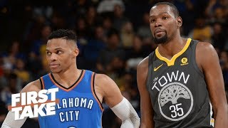 Russell Westbrook can single-handedly lift the Thunder over the Warriors - Ryan Hollins | First Take