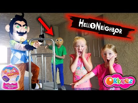 Hello Neighbor In Real Life In A Hotel! He Booked A Room!! Orbeez Wowser Suprise Toy Scavenger Hunt!