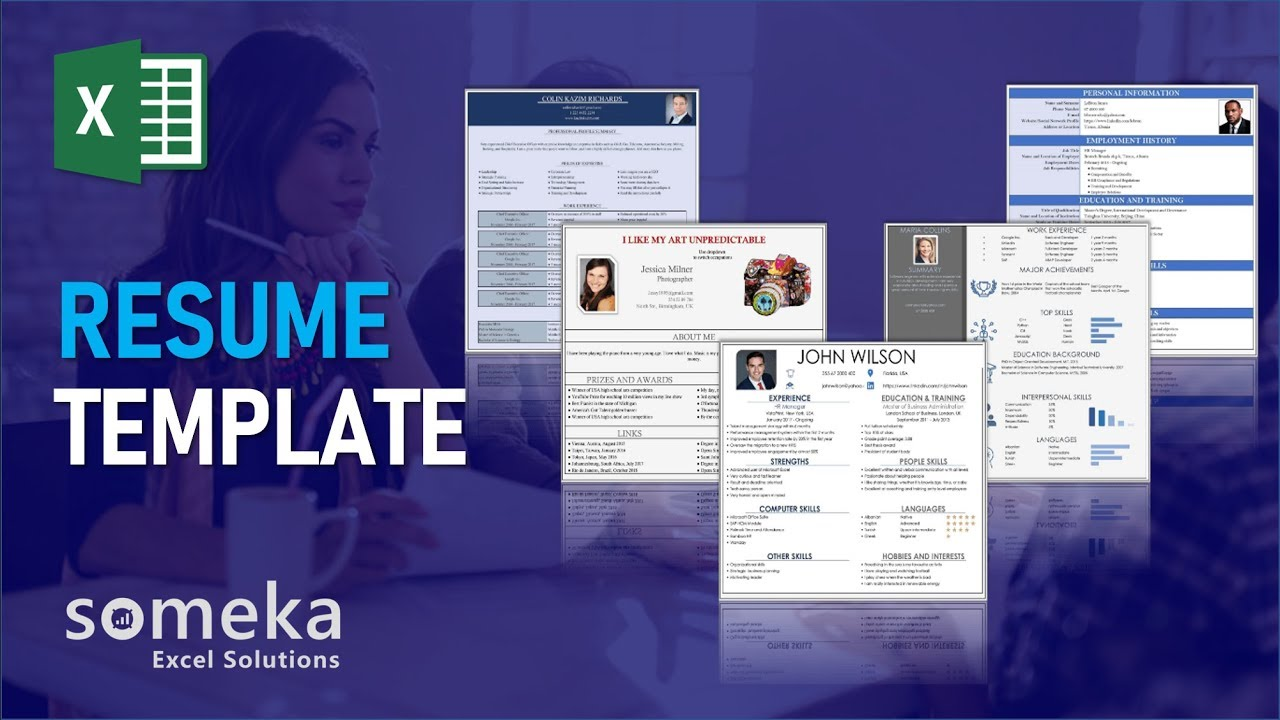 Resume Template - Someka Excel Template Video