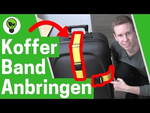 Kofferband anbringen ✅ ULTIMATIVE ANLEITUNG: Koffergurt & Gepäckgurt richtig anlegen an Koffer!!!
