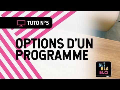Trucs & Astuces BLI BLA BLO - Options d'un programme