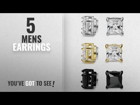 Top 10 Mens Earrings [2018]: BESTEEL 3Pairs Stainless Steel Earrings Magnetic for Men Women Stud