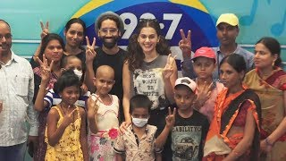 Taapsee Pannu At BIG FM Meet And Greet With Kids Suffering From Cancer