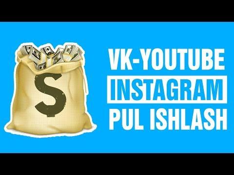 YOUTUBE VK INSTAGRAM ORQALI PUL ISHLASH AD-SOCIAL