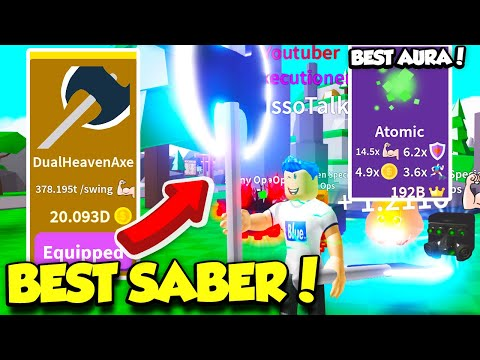 GETTING THE MOST EXPENSIVE SABER AND BEST AURA IN SABER SIMULATOR UPDATE!! (Roblox)