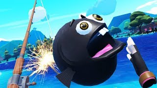 Exploding Bomb Fish! - Crazy Fishing Gameplay - VR HTC Vive Pro