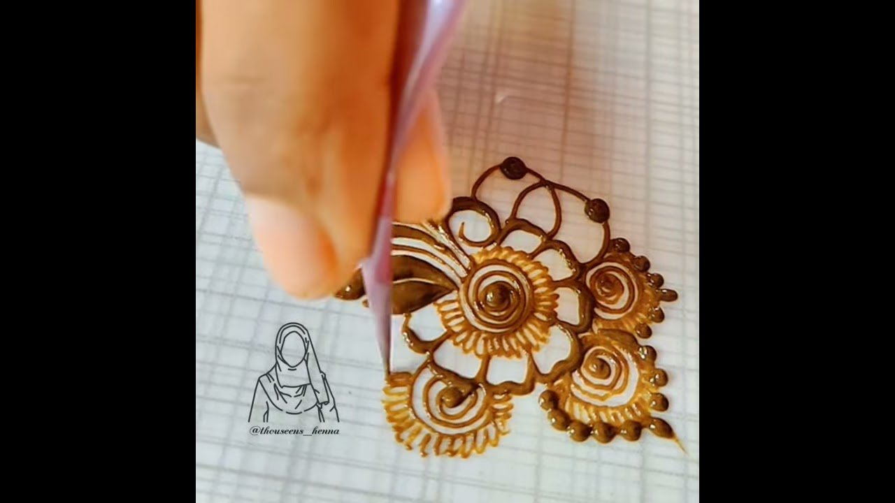 simple quick henna practice tutorial by thouseens henna