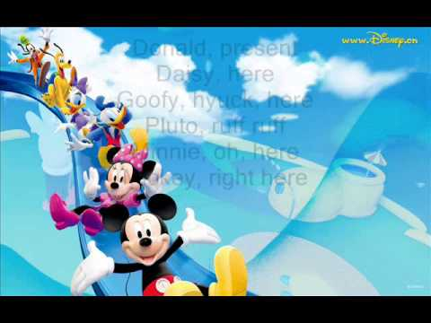 Mickey Mouse Clubhouse: Theme Song (Lyrics)