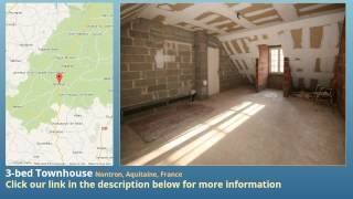 preview picture of video '3-bed Townhouse for Sale in Nontron, Aquitaine, France on frenchlife.biz'