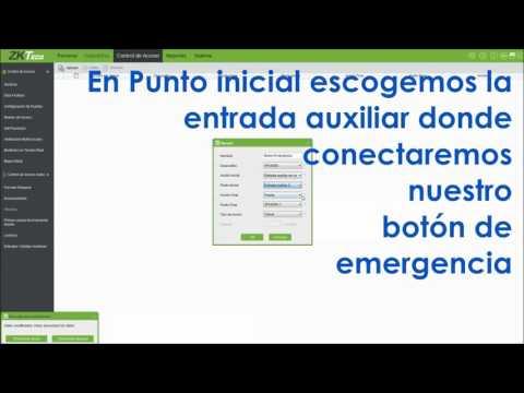 Vínculos para botón de emergencia en ZKAccess3.5