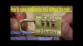 How to open a combination lock without the code -  life hack padlock