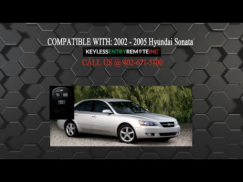 How To Replace Hyundai Sonata Key Fob Battery 2002 2005