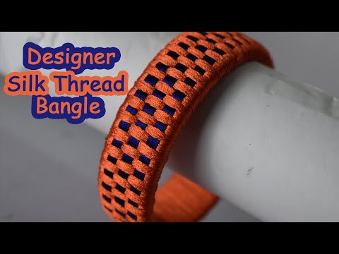 Designer Silk Thread Bangles Part 2 | Checked Silk thread bangle making at home in Tamil |