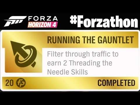 Forza Horizon 4 Earn 2 Threading the Needle Skills #Forzathon Running the Gauntlet