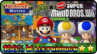 Newer Super Mario Bros. Wii   Full Game (All Worlds 100% Walkthrough Multiplayer)