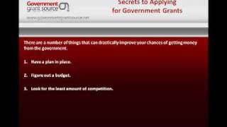 Secrets To Applying For Government Grants