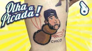 TATUARAM O CHICO NA PERNA!