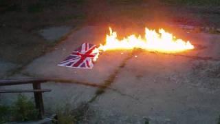 British Flag Burning/Exploding July 4th Team America
