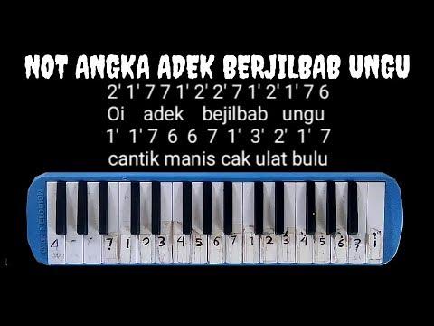 Not pianika adek berjilbab ungu   not angka