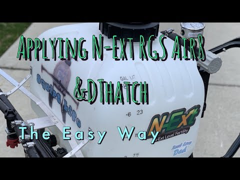 Applying N-Ext RGS Air8 & DThatch   Spring Lawncare