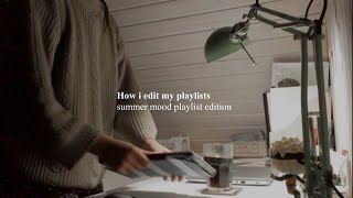 How i edit my playlist videos 💻✨ Finding aesthetic pictures, songs & editing program