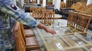 সেগুন কাঠের ডাইনিং টেবিলের দাম। Segun Wooden Dining Table Price / Dining Table Design