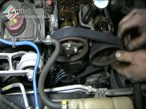 Quick overview replacing timing belt Alfa T-Spark 16v