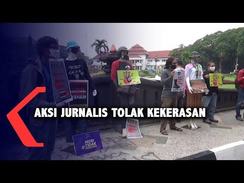 jurnalis di malang aksi tolak kekerasan
