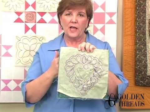 Marking quilting designs on your top