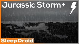 ► Jurassic Seaside Rain and Thunderstorm Sounds for Sleeping (Vintage Seaside Storm) Lluvia, 10 hour