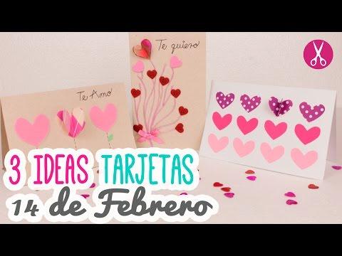 3 Tarjetas De Amor Para San Valentin Chulas Y Muy Faciles Manualidades