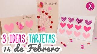 3 Ideas Para Regalar El 14 De Febrero | 3 Tarjetas Fáciles! | Manualidades San Valentin | Catwalk