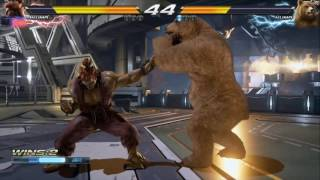 EXCLUSIVE hands-on session PS4pro 1080p 60fps Tekken 7 KCJ (Akuma) vs Kuma